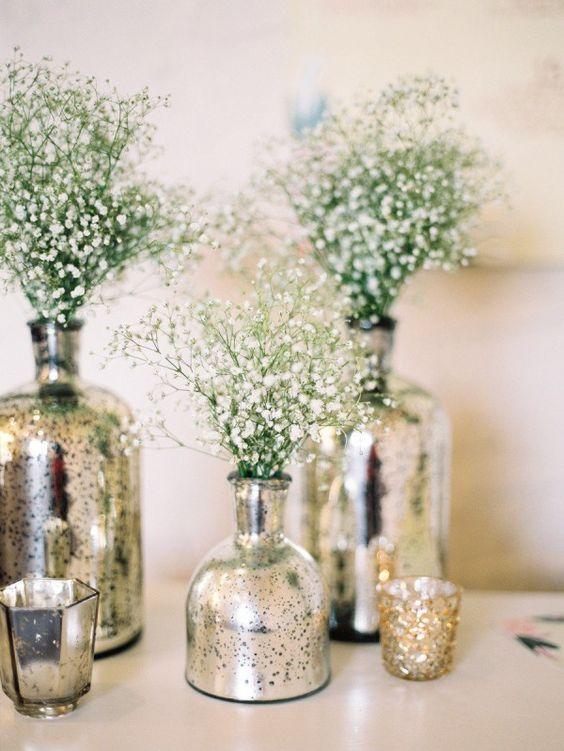 Antiqued Mercury Mirrored Vases Class Mondak Heritage Center