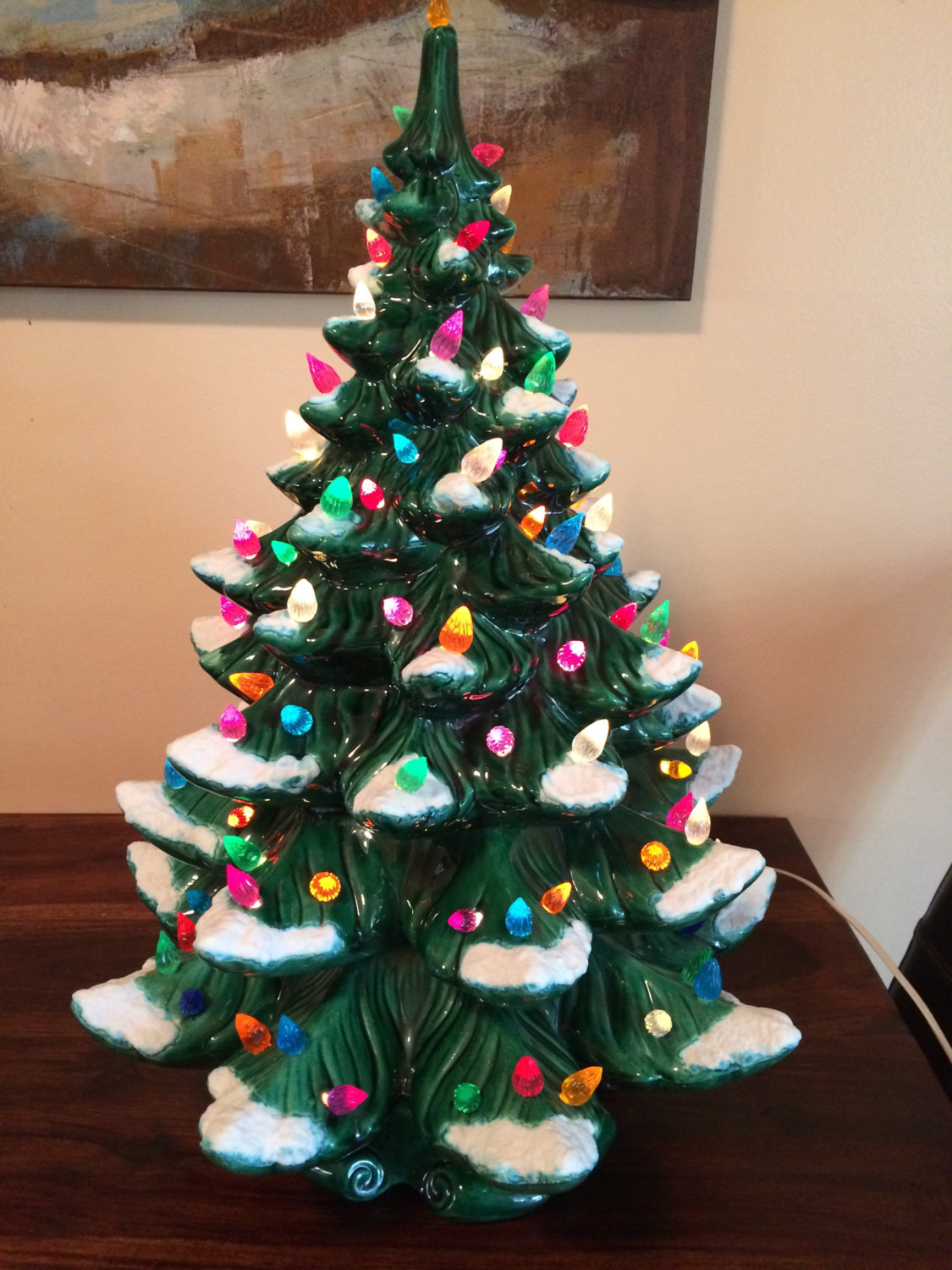 Ceramic Christmas Tree With Lights.Vintage Ceramic Christmas Tree Glazing Class Mondak Heritage Center