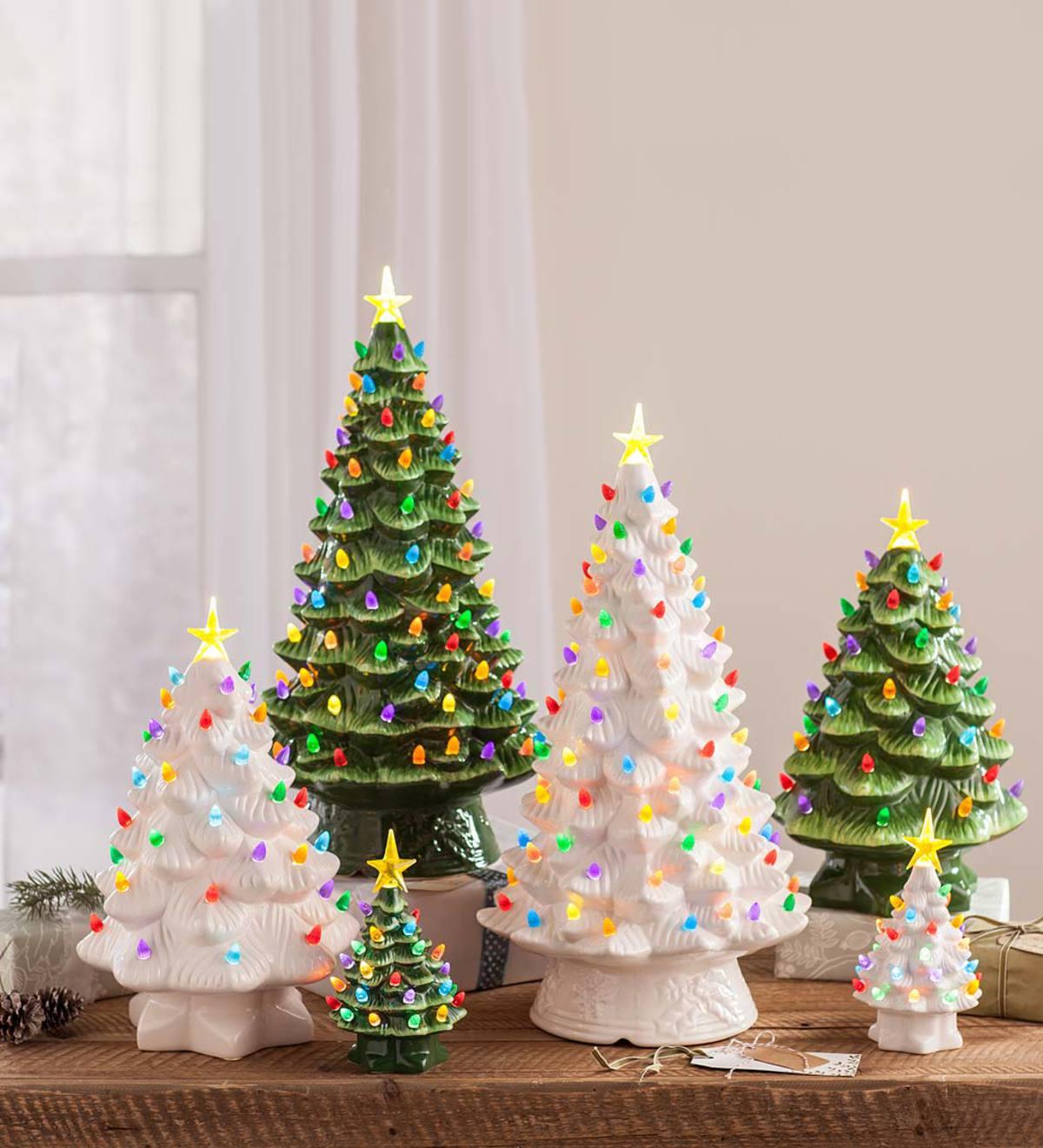 Vintage Ceramic Christmas Tree.Mini Vintage Ceramic Tree Class Mondak Heritage Center